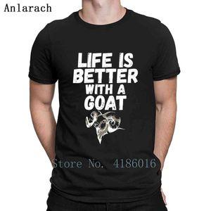 Смешные Коза Lover Pet Goat Farming Farm Gift тенниска Прохладный Интересный Crew Neck дизайн здания Природные Короткие рукава Летняя рубашка