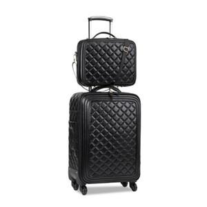 Gepäck-Sets 16/20/24-Zoll-Dame carry-on, Hochwertige Lederkoffer, Retro Koffer, High-Qualität Gepäck, valise