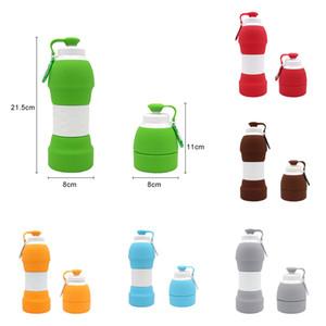 Открытые складная вода Кубок Складных силиконовой чашка Телескопических бутылки воды кемпинг велосипеды чайник 6 Цвет XD23165