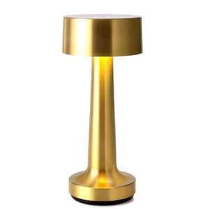 Oro in ottone Cordless lampada Da Tavolo Ristorante Hotel KTV Bar Ricaricabile Da Tavolo A LED Luce di notte Lampadario da cucina LLFA