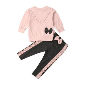 2pcs Set Autumn Clothing Baby Sweater Long Pants Tight Trousers Suit A Learn To Walk Real Children Clothes 0-4 Years