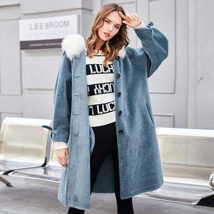 % 100 Yün Ceket Sonbahar Kış Kaban Kadınlar Giyim 2020 Gerçek Kürk Koreli Koyun shearlıng Süet Kaplama Abrigo Mujer ZT3634