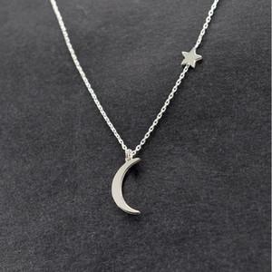 Simples Moon Star Pendant colares para Declaração Mulheres New Bijoux Jóias Colar Collier Moda vintage para Wedding Party Boho Praia