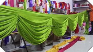Envío gratis de seda de hielo swags \ manzana verde falda de mesa swags telón de fondo de la boda / decoración de escaleras / 6 m de largo