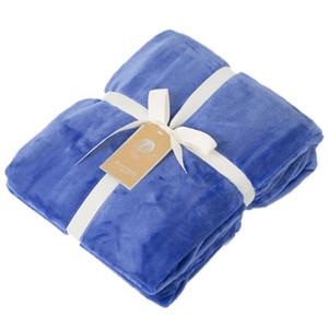 Cobertor de Flanela simples Verão Nap Air Conditioning Blanket Throw Flanela Cobertor de Lã de Viagem Para Casa Escritório Cobertores de Soneca