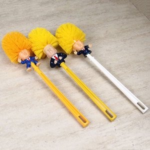 Donald Trump Toilet Brush Set With Brush Holder Creative Plastic WC Toilet Borstel Bathroom Cleaning Accessories Toilet Supplies DBC VT0423