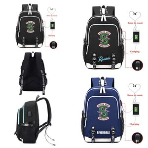 Riverdale South Side Serpents Jughead Backpack USB Charging Port Headphone Casual Travel School Bag Boy Student Laptop Shoulderbag Book Bags