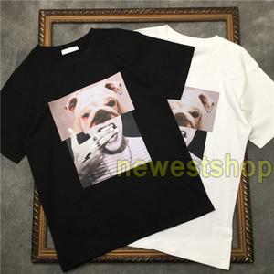 mens 2020 nuovo lusso di estate della stampa della maglietta del fumetto di modo di stampa testa di cane maglietta superiore degli uomini progettista delle donne maglietta casuale Cotton Tee Top