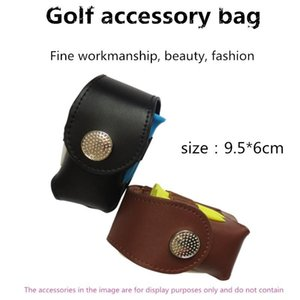 Outdoor Portable Golf Small Waist Bag Exquisite Leather Golf Small Accessory Bag Ball Needle Storage Pocket