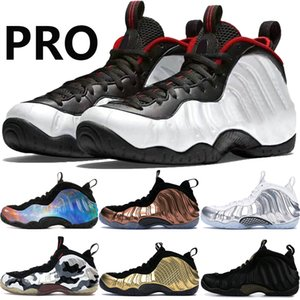 Mens Foams Pro One schwarz weiß Penny Hardaway Basketball-Schuhe alternative Galaxie Chrome Weiß Kampfjet Metallic Gold Männer Trainer-Turnschuhe