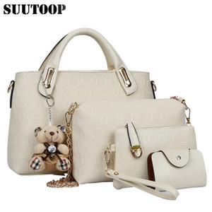Berühmte Designer Suutoop Luxusmarken Frauen Tasche Set Gute Qualität Medium Frauen Handtasche Set Neue Frauen Umhängetasche 4 Stück Set J190613