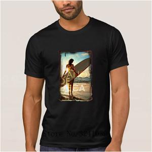Anlarach Designing Humor surfings girl t shirt men summer Fitness men t-shirt Leisure men tshirt Short Sleeve Top Quality
