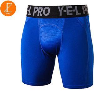 Ezsskj masculinas Culturismo Pantalones cortos para hombre Niños compresión de fitness Bottoms shorts Ropa interior PRO estiramiento elasticidad Medias Negro
