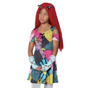 Ragazze o donne adulte l'incubo prima di Natale Bambini Sally Costume Dress Halloween Party Costume per i bambini