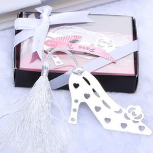 Spedizione gratuita scarpe tacco alto Bookmark metallo creativo Vuoto-fuori segnalibro con la nappa di nozze sposa doccia favore del partito