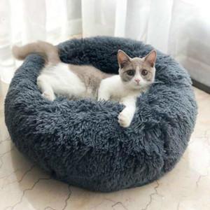 Haustier-Hundebett Bequeme Donut Cuddler Round Dog Kennel Ultra Soft waschbar Hund und Katze Kissenbett-Winter-warmer Sofa heiß sell2810