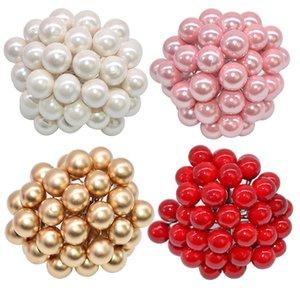 50pcs mini plastica della perla stami Fiori Artificiali Frutta Stami Cherry per nuziale di Natale fai da te Gift Box corone decorazioni