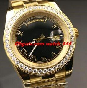 Новая версия 3 Стиль Мужчины наручные часы 118348 118388 Алмазный диск 40мм 18k золото Браслет стали Дата Автоматическая Мужские часы Бесплатная доставка