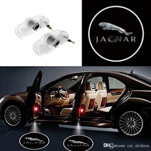 2x lumières de porte de voiture pour Jaguar XJ XJL 2013-2015 LED Laser porte Bienvenue ombre Projecteur Lumières