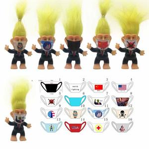 Simulation Masque Donald Trump Troll Doll drôle Président Cheveux longs Action Figure 6cm Table Décoration Ameublement Articles de voitures