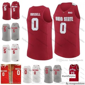 Custom NCAA Ohio State Buckeyes Basketball 0 Russell Conley Craft Jackson Havlicek Lucas Karow Oden Vintage Mike Aaron Jim Turner Jerseys