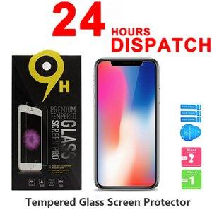خفف من الزجاج 2.5D 9H شاشة 0.3MM حامي للحصول على اي فون SE 11 برو ماكس X XS XR 7 8 6 6S زائد مكافحة خدش المضادة للبصمة 10 في 1 مع صندوق