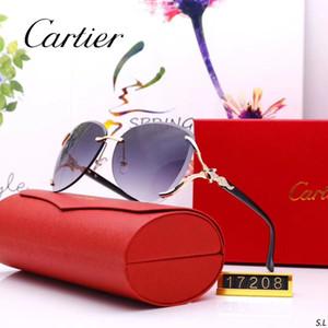 2019 novos óculos de sol de luxo óculos de sol à moda designer de óculos de sol para homens das mulheres de vidro uv400 6 estilo com pequeninas abelhas com caixa