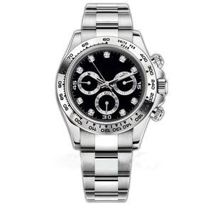 Luxo Mens Watch 116500LN Designer Assista Montre De Luxe Automatic Relógios de pulso Ceramic Bezel 316L Adustable fivela dobrável 19 Styles