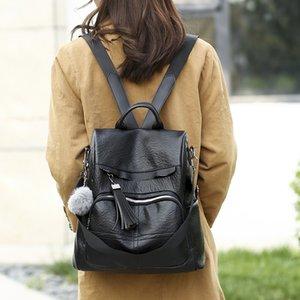 Damen-Rucksack weiblichen koreanischen neuen Art und Weise Rucksack PU-Weich College Style Studenten Beutel-große Kapazitäts-Spielraum-Beutel