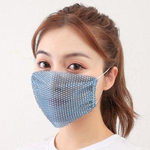En Yeni Yaz Elmas Kadınlar Ağız Maskesi Açık UV Dayanıklı Yeniden kullanılabilir Yüz Desigin Ücretsiz Kargo Maske Breathe