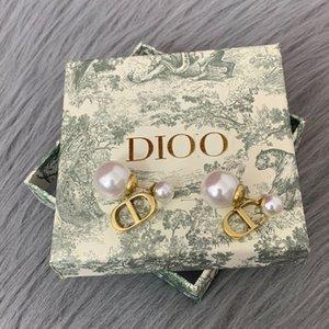 D 제품군 2020 CD 문자 진주 귀걸이 여성 기질 여성 디 가족 CD 귀걸이 여성