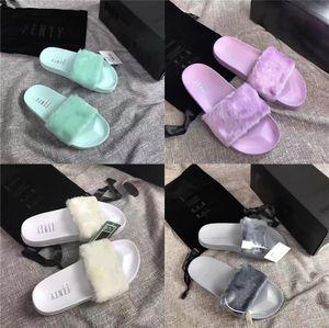 Women'S Summer Couple Cow Leather Sandals Black Skull Designer Slippers Women Slides Indoor Home Shoes Flip-Flops Big Size 45 Y20010#496
