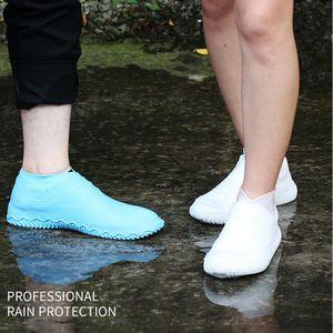Silikon Su Geçirmez Ayakkabı Kapağı Açık Yağmur Geçirmez Yürüyüş Skid geçirmez Ayakkabı Kapakları