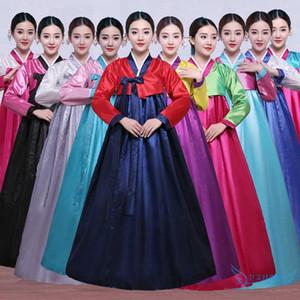 Etapa hanbok vestido popular de alta calidad multicolor tradicional coreana femenina de Corea del partido del traje del traje de la danza tradicional de Corea