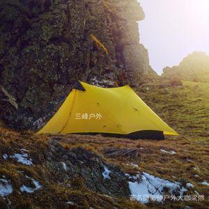 2017 Lanshan 2 3F UL Gear 2 Pessoa Oudoor Ultraleve Camping Tenda 3 Temporada Professional 15D Silnylon sem haste Tent