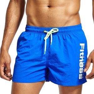 JOCKMAIL Männer Shorts Sommer-Strand-kurze Hosen Male Gyms Fitness Workout Bodybuilding Swimsuits Herren Laufsport kurze surffing