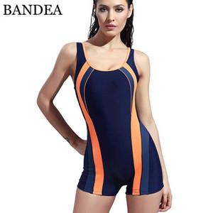 BANDEA Abnehmen Anzug Frauen Badeanzug Sport Quick Dry Swimwear Bodysuit elastische Damen Monokini Berufskleidung