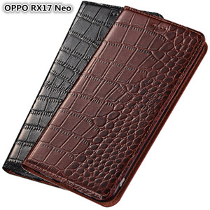 Ultra Slim Phone Case For OPPO RX17 Neo Genuine Leather Luxury Case For OPPO RX17 Neo Flip Case With Card Slot