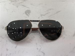novo designer de moda óculos de sol pernas de madeira T8201008 armação de metal estilo popular de verão simples venda uv400 óculos de proteção ao ar livre