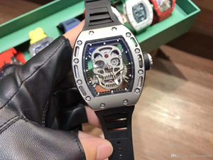 3A hollow man mechanical watch RM052 series.Skull and crossbones series.Rubber strap.X50 43 mm.Luxury mechanical watch 3A quality