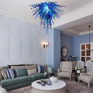 Modern Blown Blue Murano Glass Ceiling Chandelier LED Light Source AC 110V 220V Modern Art Decor Italy Designed Murano Glass Light