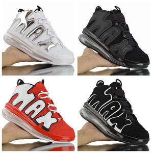 2019 New Air Plus Uptempo Hommes Chaussures De Basketball Triple Noir Rouge Wghite Designer Scottie Pippen QS Athlétique Sports Sneakers des Chaussures nike air max off white