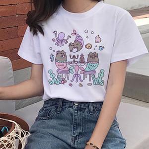 Divertente gatto maglietta Donne divertente gatto maglietta casuale a manica corta T sorella è installato