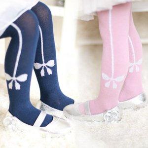Newborn Cotton Bowknot Printed Baby Girls Pantyhose Warm Socks Winter Toddler Clothing K08