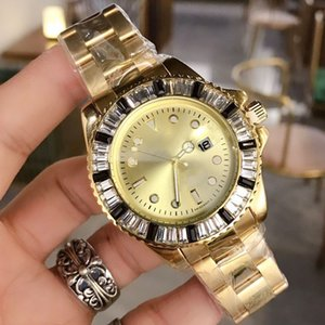 New Arrival gold diamond iced out watches man luxury watches mens designer watches fashion quartz movement Wristwatches orologio di lusso