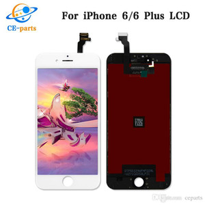 LCD BLACKWHITE للآيفون 5 5C 5S 6 6 زائد 6S 6S زائد 7 7 بالإضافة إلى شاشة LCD تعمل باللمس استبدال محول الأرقام الشاشة الجمعية