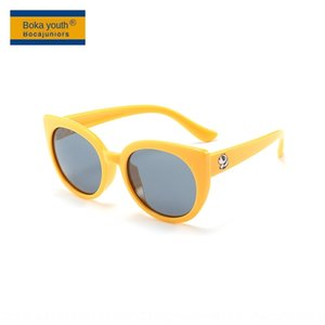 Children's round frame polarized sun solid color silicone sun-proof for boys Sun sunglasses Silicone sun glasses and girls T1876