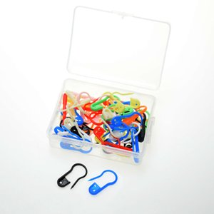 50pcs per plastic box plastic safety pin in pear shaped bulb shaped for knitting stitch marker