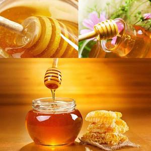 Honey Stir Bar Mixing Handle Jar Spoon Practical 1Pc Wood Dipper Honey Long Stick Supplies Honey Kitchen Tools Mini Wooden Stick