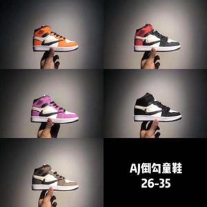 2019 TS 1S صبار جاك أحذية الأطفال كرة السلة ترافيس سكوتي العليا OG 1 TS حذاء الرياضة في الهواء الطلق شباب جديد للأطفال المدربين 26-35